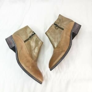 ANTELOPE x Anthropologie Metallic Leather Bootie